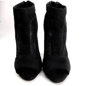 Aldo Shoes - Aldo Lace Stiletto Zippered Ankle Booties